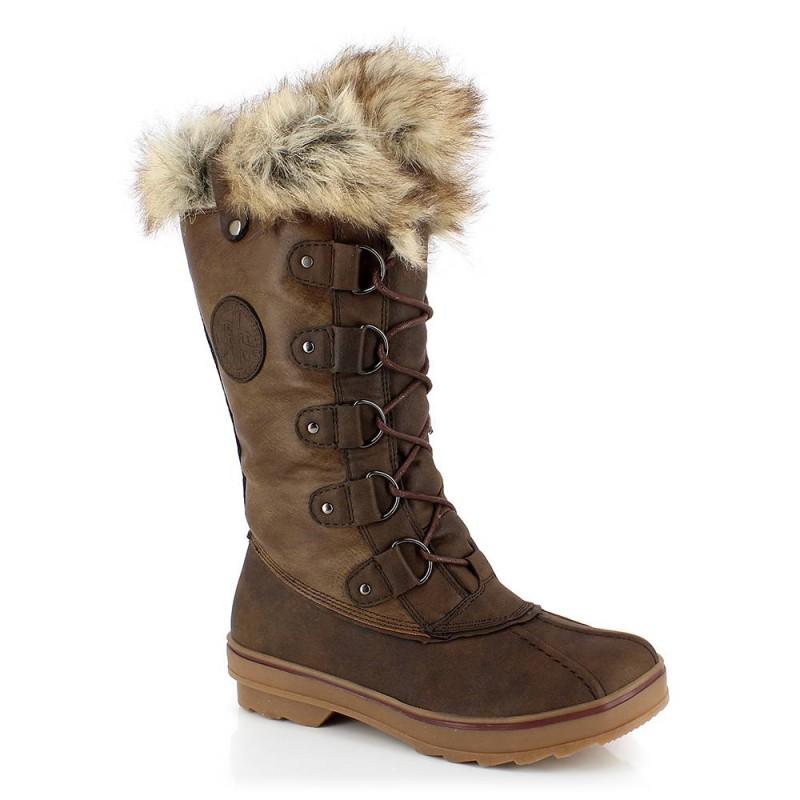 bottes de neige fourrées pour femme